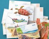 Lot de 10 cartes postales Isalo