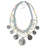 Cowrie coin necklace - Grey