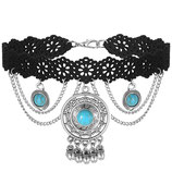 Vintage Turquoise choker necklace 1