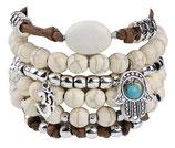 Ibiza charm bracelet - Brown/White