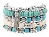 Ibiza charm bracelet - White/turquoise