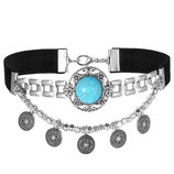 Vintage Turquoise choker necklace 2