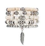 Ibiza Charm Bracelet - White Silver