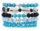 Ibiza charm bracelet blue
