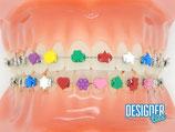 DesignerTies Ligaturengümmeli in verschiedenen Symbolen/Farben