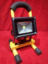 LED Akku Strahler 10 Watt Baustrahler Arbeitsscheinwerfer Kaltweiß mit Blinklicht