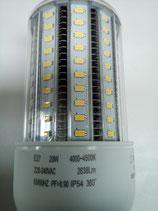 LED Leuchtmittel Cornbulb, Straßenlampe, Hallenleuchte, Stallleuchte, HQL - Ersatz