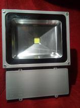 100 Watt LED Strahler 1 LED, Kaltweiß, Gehäuse grau und Warmweiss, Gehäuse schwarz