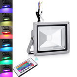 20 Watt LED Strahler mit Farbwechsel und Fernbedienung