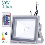 30 Watt LED Strahler mit Farbwechsel und Fernbedienung