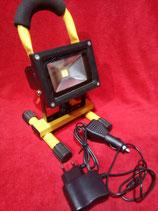 LED Akku Strahler 10 Watt Baustrahler Arbeitsscheinwerfer Kalt- oder warmweiß
