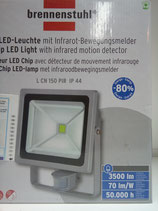 brennenstuhl® Chip-LED - Leuchte L CN 150 W PIR mit Bewegungsmelder