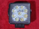 LED Strahler Arbeitsscheinwerfer 27 Watt  eckig   12/24 Volt