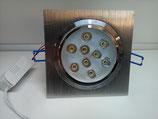 LED Einbau Spot 9 Watt quadrat