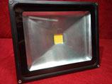 30 Watt LED Strahler mit Stecker  Kaltweiß, Gehäuse grau oder Warmweiß, Gehäuse schwarz