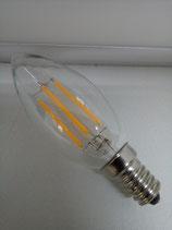 10 Stück LED-Birne E14, warmweiß, Filament, Retro, 2 und 4 Watt, KERZE