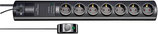 brennenstuhl® Primera-Tec Comfort Switch Plus Steckdosenleiste 7-fach mit 19.500A Überspannungsschutz