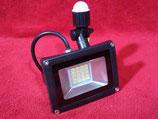20 Watt LED Strahler mit Bewegungssensor kaltweiß, Gehäuse grau oder warmweiß, Gehäuse schwarz