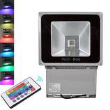 100 Watt LED Strahler mit Farbwechsel und Fernbedienung