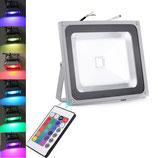 50 Watt LED Strahler mit Farbwechsel und Fernbedienung