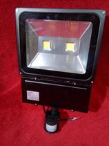 100 Watt LED Strahler 2 LED´s mit Bewegungsmelder Kaltweiß, Gehäuse grau oder warmweiß, Gehäuse schwarz