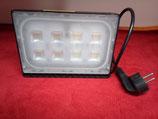 50 Watt LED Strahler, extrem flach, kalt- oder warmweiß mit Stecker