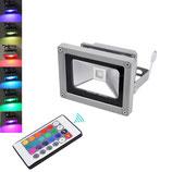 10 Watt LED Strahler mit Farbwechsel und Fernbedienung