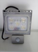 30 Watt LED Strahler, kaltweiß, mit Bewegungsmelder