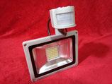30 Watt LED Strahler mit Bewegungsmelder Kaltweiß, Gehäuse grau oder Warmweiß, Gehäuse schwarz