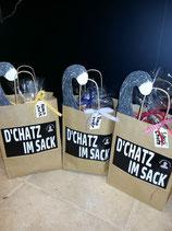 """""""D'Chatz im Sack"""" Geschenkverpackung"""