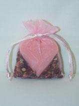 Rosenblüten Duftsäckchen mit Herzseife