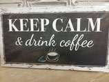"Schild Kartonage ""Keep calm"", 23x13"
