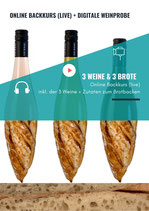 Online Backkurs (live) + Digitale Weinprobe