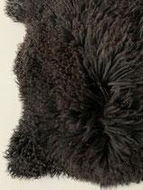 Grote Zwart Bruine Schapenvacht