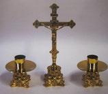 ロザリオ在庫品 Chanderlier art.1084set 十字架高さ30センチキャンドル高さ9センチ 豪華な3点セットです。