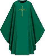 Slabbinck カズラ Assisiコレクション 701023 典礼色 緑