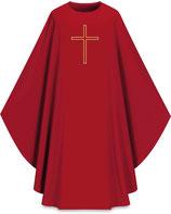 Slabbinck カズラ Assisiコレクション 701022 典礼色 赤