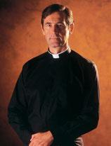 SLABBINCK 事務服 55 ブラック「ロマノ」シャツ、長袖、綿100%