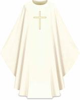 Slabbinck カズラ Assisiコレクション 701021 典礼色 白