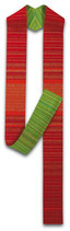 Slabbinck ストラ リバーシブル 51〜19 赤緑