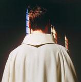 男性用ベージュ GARB-95 洗濯簡単な修道院襟リボルノガウン Liturgical gown  95Livormo Beige