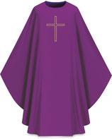 Slabbinck カズラ Assisiコレクション 701024 典礼色  紫