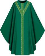 Slabbinck カズラ Assisiコレクション 701053 典礼色  緑