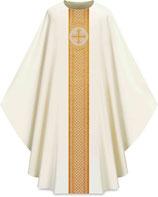 Slabbinck カズラ Assisiコレクション 701041 典礼色 白