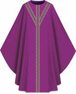 Slabbinck カズラ Assisiコレクション 701054 典礼色 紫