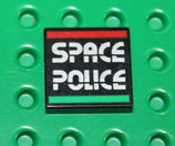PLAQUE SPACE POLICE  - 3068bp29