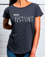 KOLLEKTiON DAMEN LOOSE FiT SHiRT UNTER-FESTiVALT