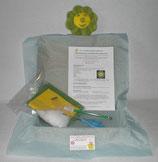 Kit doudou fleur jaune et verte