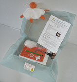 Kit doudou mouton orange et blanc