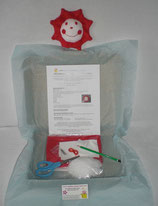 Kit doudou soleil rouge et blanc